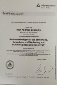 Zertifikat TUEV Rheinland